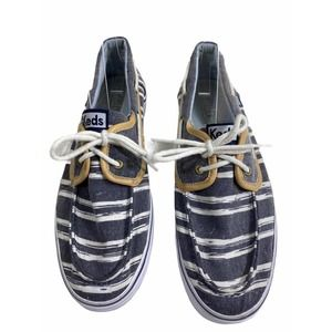 Keds Women's Canvas Lace Up Loafers Size 8.5